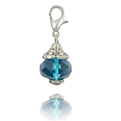 Ocean Turquoise Crystal Dangle