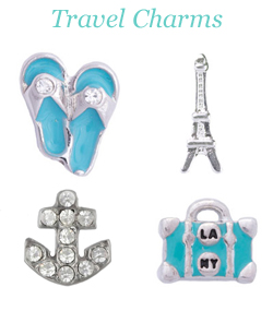 Origami Owl Travel Charms